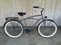 Toldi Cruiser - Férfi cruiser kerékpár - 3 sebességes agyváltós - kontrás bicikli - Titán grafit színben