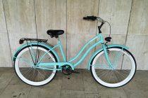 Toldi Cruiser - Női cruiser kerékpár - 1 sebességes - kontrás bicikli - Türkiz színben