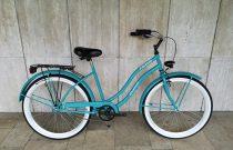 Toldi Cruiser - Női cruiser kerékpár - 3 sebességes agyváltós - kontrás bicikli - Celeste színben