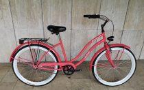 Toldi Cruiser - Női cruiser kerékpár - 1 sebességes - kontrás bicikli - Eper színben