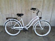 Toldi Cruiser - Női cruiser kerékpár - 1 sebességes - kontrás bicikli - Fehér színben