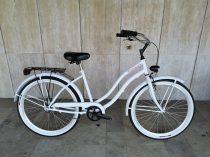 Toldi Cruiser - Női cruiser kerékpár - 3 sebességes agyváltós - kontrás bicikli - Fehér színben