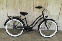 Toldi Cruiser - Női cruiser kerékpár - 1 sebességes - kontrás bicikli - Matt fekete színben