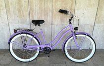 Toldi Cruiser - Női cruiser kerékpár - 1 sebességes - kontrás bicikli - Matt lila színben