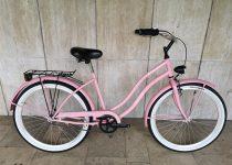 Toldi Cruiser - Női cruiser kerékpár - 3 sebességes agyváltós - kontrás bicikli - Rózsaszín színben
