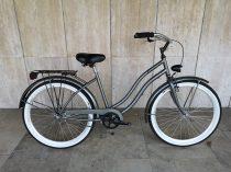 Toldi Cruiser - Női cruiser kerékpár - 3 sebességes agyváltós - kontrás bicikli - Titán grafit színben