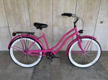 Toldi Cruiser - Női cruiser kerékpár - 1 sebességes - kontrás bicikli - Pink színben
