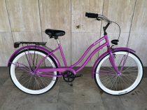 Toldi Cruiser - Női cruiser kerékpár - 1 sebességes - kontrás bicikli - Violet színben