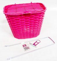 Első kosár műanyag fedeles 36x29x25 pink