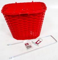 Első kosár műanyag fedeles 36x29x25 piros