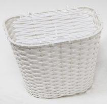 Első kosár műanyag fedeles 36x29x25 fehér