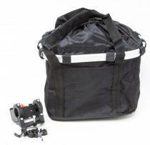 Bicikli-kosar-Textil-Adapteres-Fekete