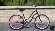 Basic-Cruiser-Noi-kerekpar-Matt-fekete-Pink