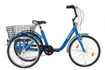 """Koliken Gommer háromkerekű Camping kerékpár - 24"""" - 6 sebességes kivitel - Kék"""