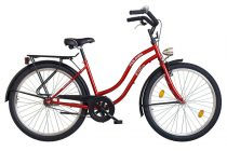 Koliken Cruiser Női Kontrás Kerékpár - Bordó színben - 1 sebességes
