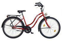 """Koliken Cruiser 26"""" Női Kontrás Kerékpár - Bordó színben - 1 sebességes"""