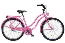 """Koliken Cruiser 26"""" Női Kontrás Kerékpár - Pink színben - 1 sebességes"""