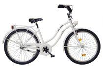 """Koliken Cruiser 26"""" Női Kontrás Kerékpár - Fehér színben - 1 sebességes"""