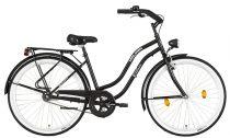 Koliken Cruiser Női Kontrás Kerékpár - Fekete színben - 1 sebességes