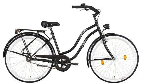 """Koliken Cruiser 26"""" Női Kontrás Kerékpár - Fekete színben - 1 sebességes"""