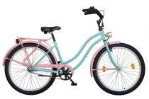"Koliken Cruiser 26"" Női Colour Kontrás Kerékpár - Türkiz-Pink"