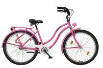 Koliken Cruiser Női Kontrás Kerékpár Agyváltós - Pink színben - 3 sebességes