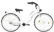 """Koliken Cruiser 26"""" Női Kontrás Kerékpár Agyváltós - Fehér színben - 3 sebességes"""