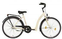 Időseknek - Koliken Hunyadi Biketek kontrás kerékpár (alacsony átlépésű) - vékony vázas - Krém