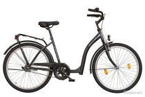 Időseknek - Koliken Hunyadi Biketek kontrás kerékpár (alacsony átlépésű) - vékony vázas - Grafit