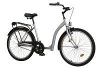 Időseknek - Koliken Hunyadi kontrás kerékpár (alacsony átlépésű) - Ezüst