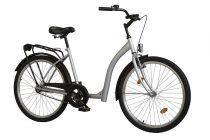 Időseknek - Koliken Hunyadi kontrás kerékpár (alacsony átlépésű) - vékony vázas - Ezüst