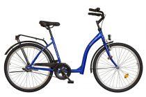 Időseknek - Koliken Hunyadi Biketek kontrás kerékpár (alacsony átlépésű) - vékony vázas - Kék