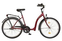 Időseknek - Koliken Hunyadi kontrás kerékpár (alacsony átlépésű) - Piros