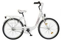 """Koliken Ocean 26"""" kontrás női kerékpár - Fehér színben - 1 sebességes"""