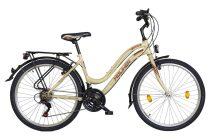 """Koliken Cherry női MTB kerékpár 26"""" felszerelt - Krém - 18 sebességes"""