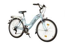 """Koliken Cherry női MTB kerékpár 26"""" felszerelt - világoskék - 18 sebességes"""