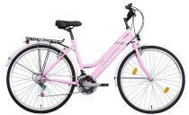 Koliken Biketek Maxwell trekking női kerékpár - Rózsaszín - 18 sebességes