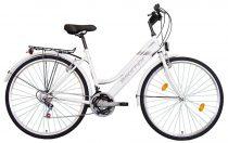 Koliken Biketek Maxwell trekking női kerékpár - Fehér - 18 sebességes