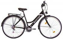Koliken Biketek Maxwell trekking női kerékpár - Fekete - 18 sebességes