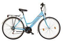 Koliken Biketek Maxwell trekking női kerékpár - Kék - 18 sebességes