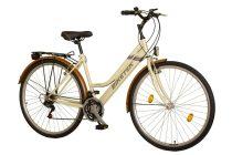 Koliken Biketek Maxwell trekking női kerékpár - Krém - 18 sebességes