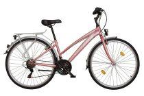 Koliken Gisu trekking női kerékpár - Rózsaszín - 18 sebességes