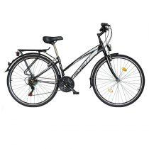 """Koliken Gisu trekking női kerékpár 28"""" - Fekete - 18 sebességes"""