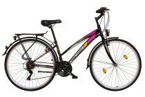 Koliken Gisu trekking női kerékpár - Fekete - 18 sebességes