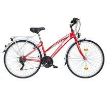 """Koliken Gisu trekking női kerékpár 28"""" - Piros - 18 sebességes"""