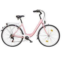 """Koliken Feliz női városi kerékpár - ALU vázas - 28"""" - Rózsaszín - 6 sebességes"""