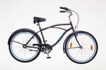 Férfi városi kerékpár - Neuzer Picnic Cruiser - Agyváltós - grafit szürke/kék