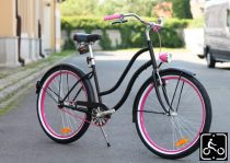 Noi-Cruiser-Kerekpar-1sp-Matt-fekete-Pink