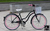 Noi-Cruiser-Kerekpar-1sp---Matt-fekete-Pink
