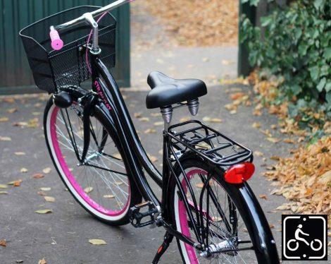 Noi-Cruiser-Kerekpar-1sp-Fekete-Pink